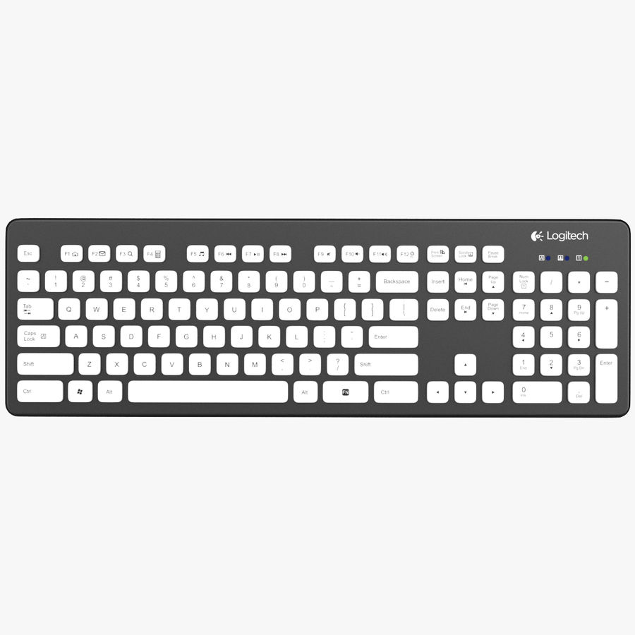 Logitech Washable Keyboard K310 royalty-free 3d model - Preview no. 13