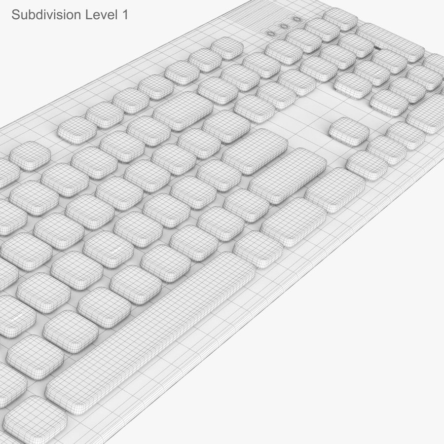 Logitech Washable Keyboard K310 royalty-free 3d model - Preview no. 42