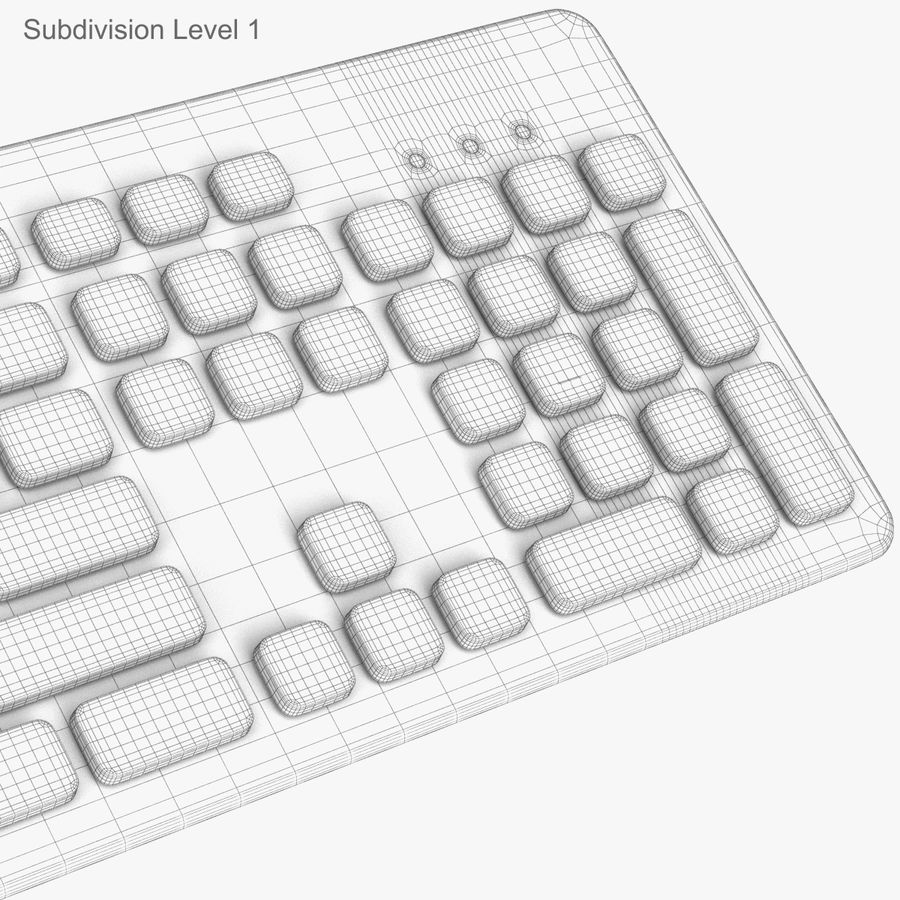 Logitech Washable Keyboard K310 royalty-free 3d model - Preview no. 40