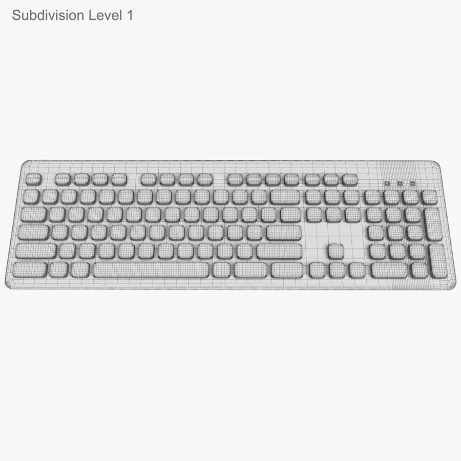 Logitech Washable Keyboard K310 royalty-free 3d model - Preview no. 34