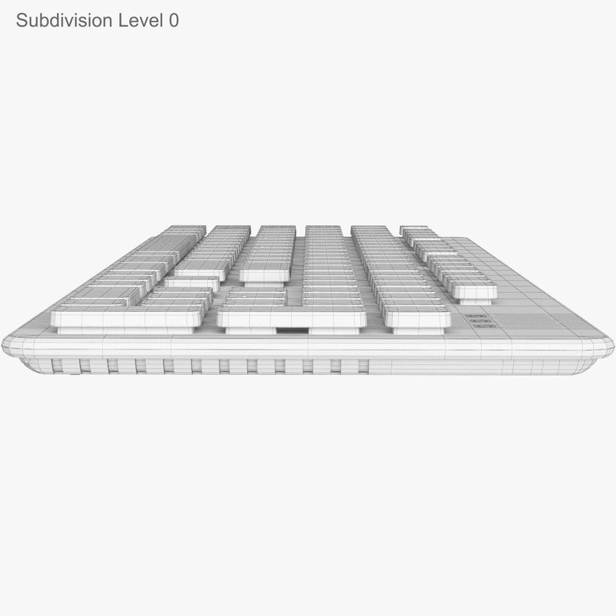 Logitech Washable Keyboard K310 royalty-free 3d model - Preview no. 30