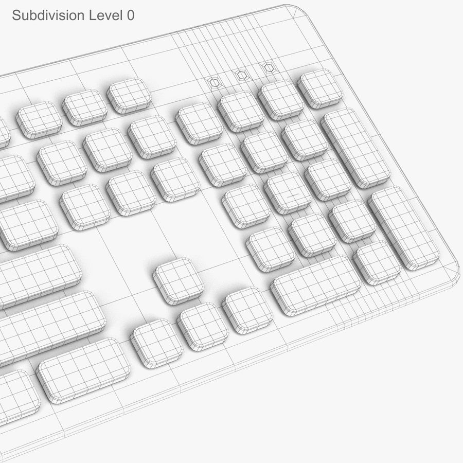 Logitech Washable Keyboard K310 royalty-free 3d model - Preview no. 24