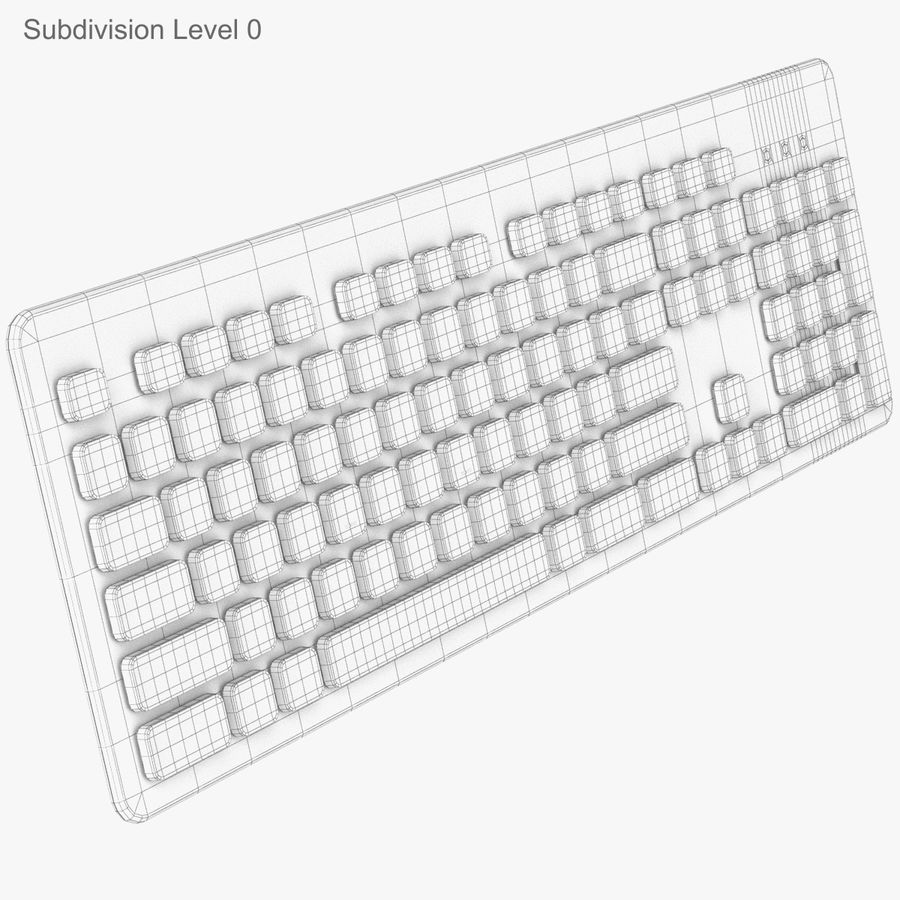 Logitech Washable Keyboard K310 royalty-free 3d model - Preview no. 22