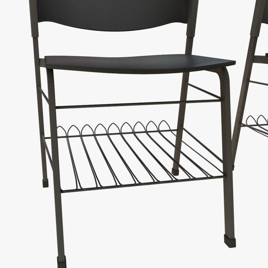 school desk royalty-free 3d model - Preview no. 8