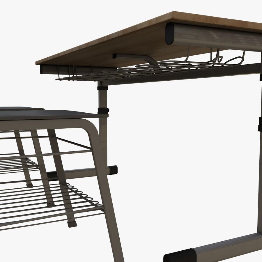 school desk royalty-free 3d model - Preview no. 7