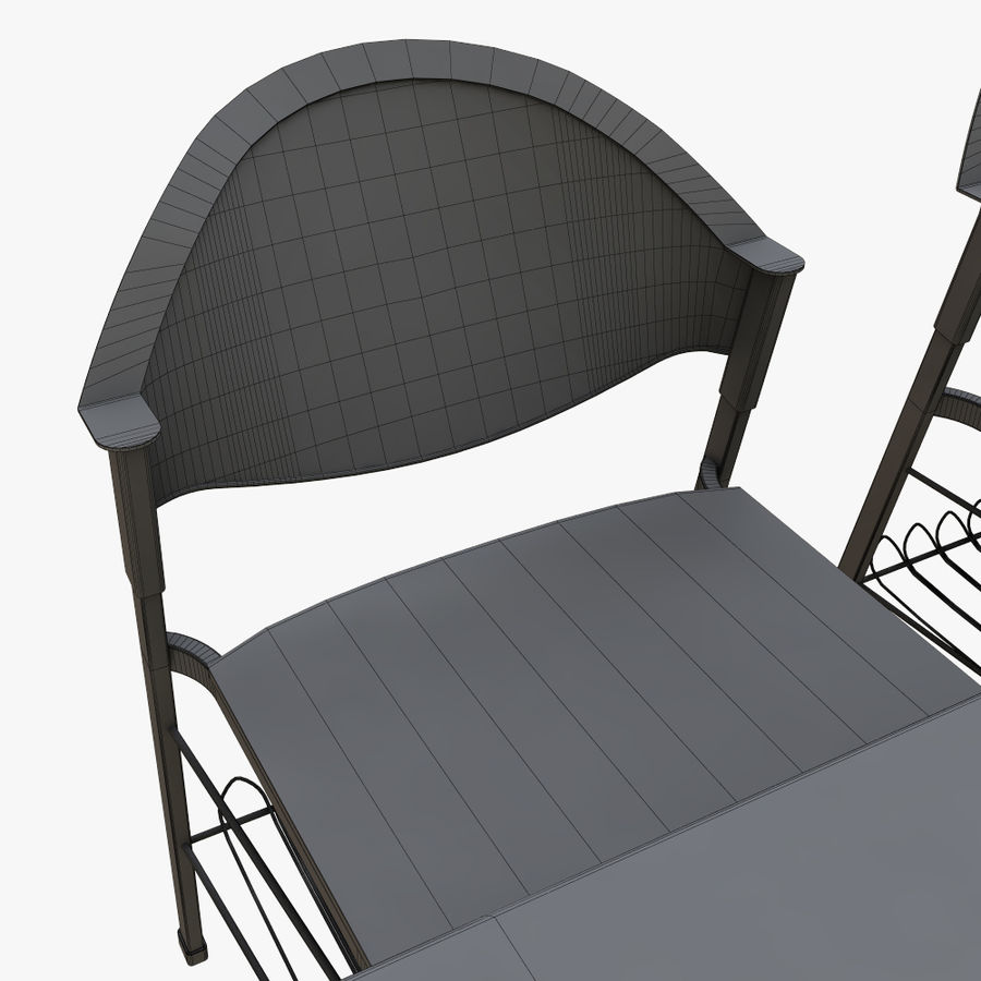 school desk royalty-free 3d model - Preview no. 11