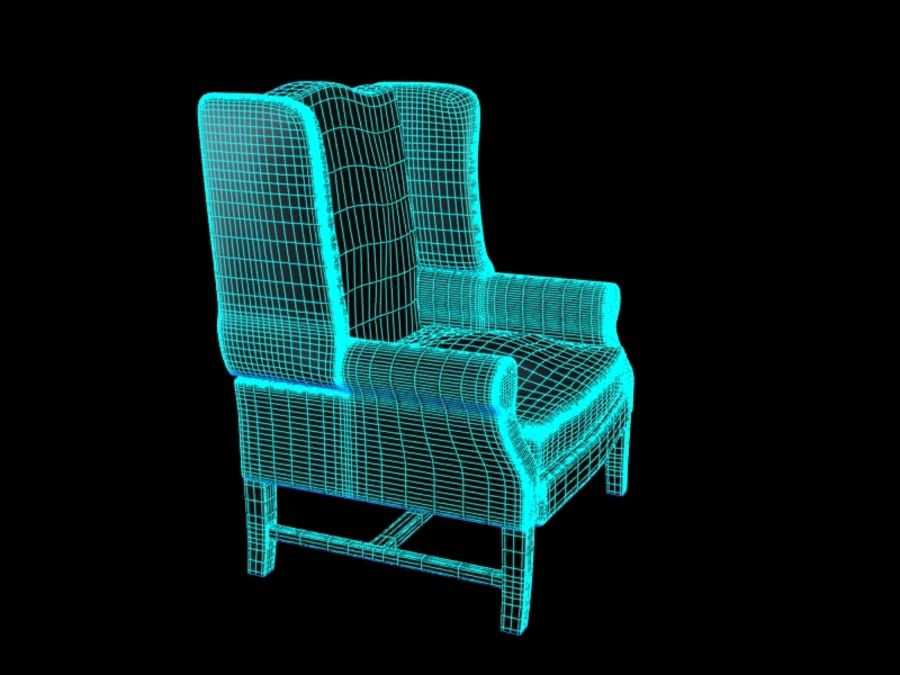 Pottery Barn - Leather Armchair royalty-free 3d model - Preview no. 9