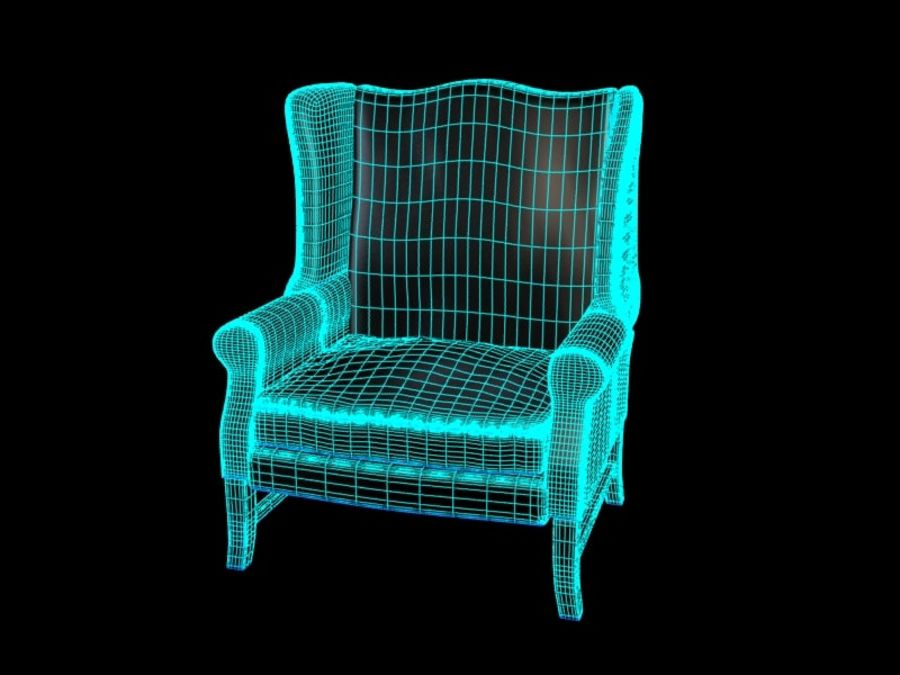 Pottery Barn - Leather Armchair royalty-free 3d model - Preview no. 7