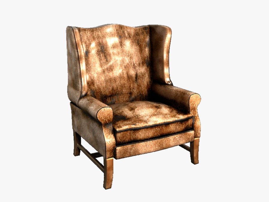 Pottery Barn - Leather Armchair royalty-free 3d model - Preview no. 1