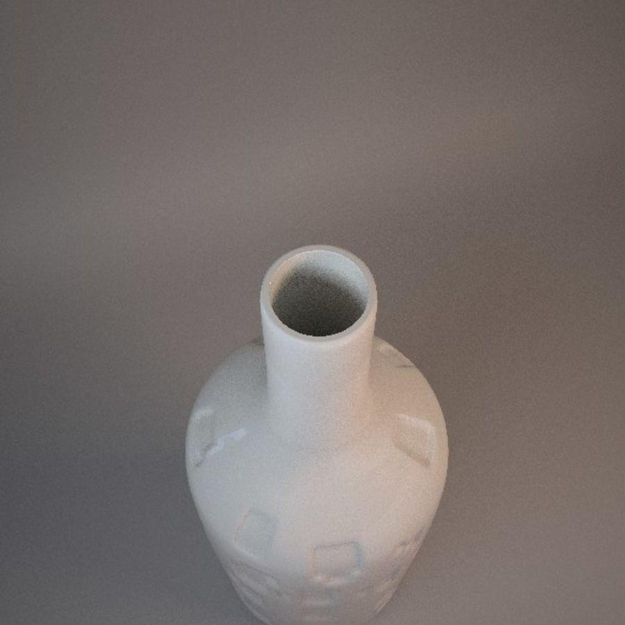 装飾セラミック花瓶 royalty-free 3d model - Preview no. 3