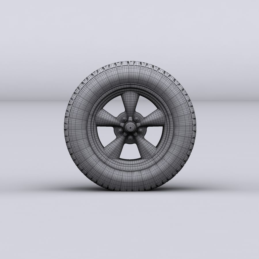 Vintage alloy wheel royalty-free 3d model - Preview no. 9