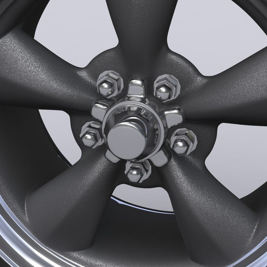 Vintage alloy wheel royalty-free 3d model - Preview no. 3