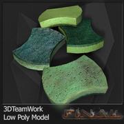 Sponge Clean & Dirty V1 Low Poly 3d model