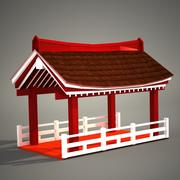 PagodaSidePergola 3d model