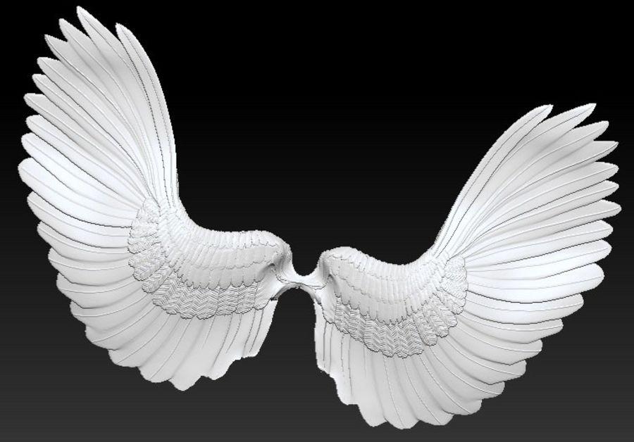 vingar royalty-free 3d model - Preview no. 4