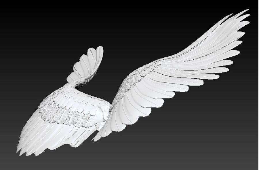 vingar royalty-free 3d model - Preview no. 2