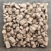 stenen paneel 3d model