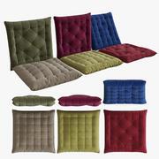 Almofadas de assento 3d model