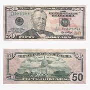 Billet de 50 dollars 3d model