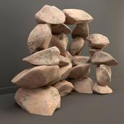 vulkanisk sten 3d model
