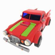 Cartoon Racing Pickup Truck 3d model