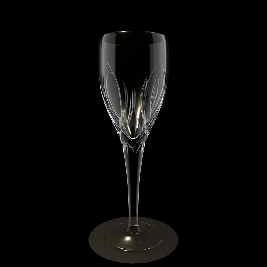 Бокал для вина royalty-free 3d model - Preview no. 3