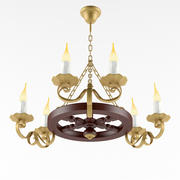 Country Chandelier 2 3d model