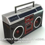Lowpoly Boom Box 3d model