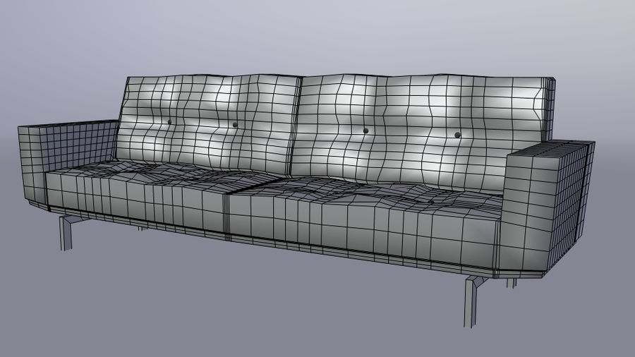 Modern Couch royalty-free 3d model - Preview no. 3