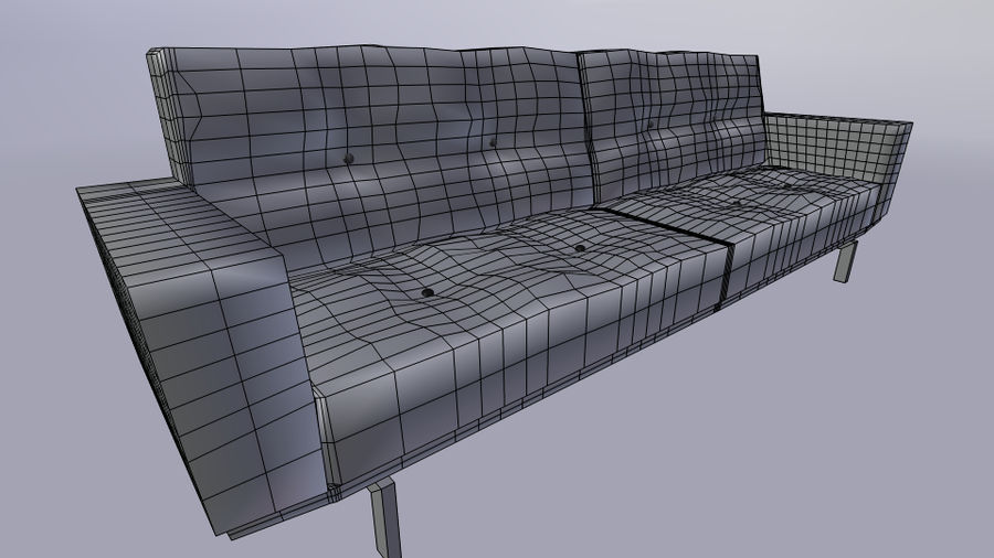 Modern Couch royalty-free 3d model - Preview no. 5