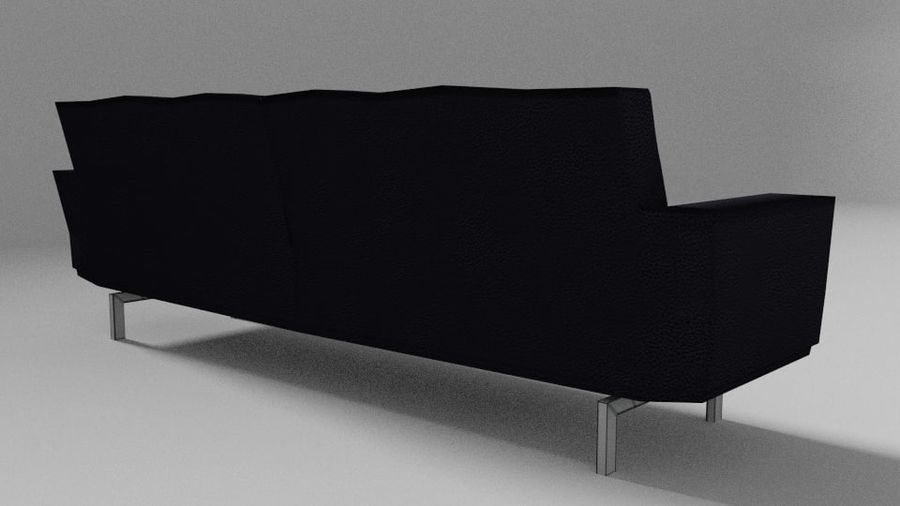 Modern Couch royalty-free 3d model - Preview no. 4