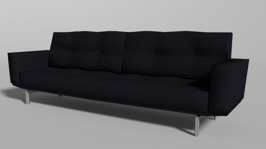 Modern Couch royalty-free 3d model - Preview no. 1