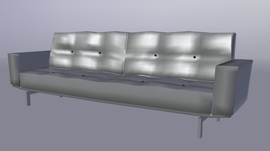 Modern Couch royalty-free 3d model - Preview no. 2