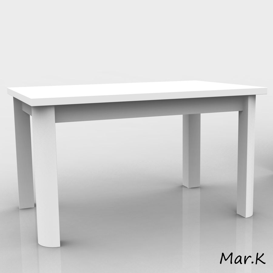 dining room furniture royalty-free 3d model - Preview no. 5