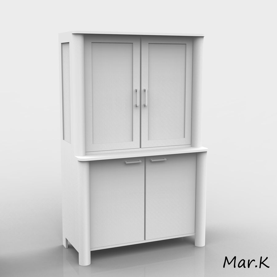 dining room furniture royalty-free 3d model - Preview no. 7
