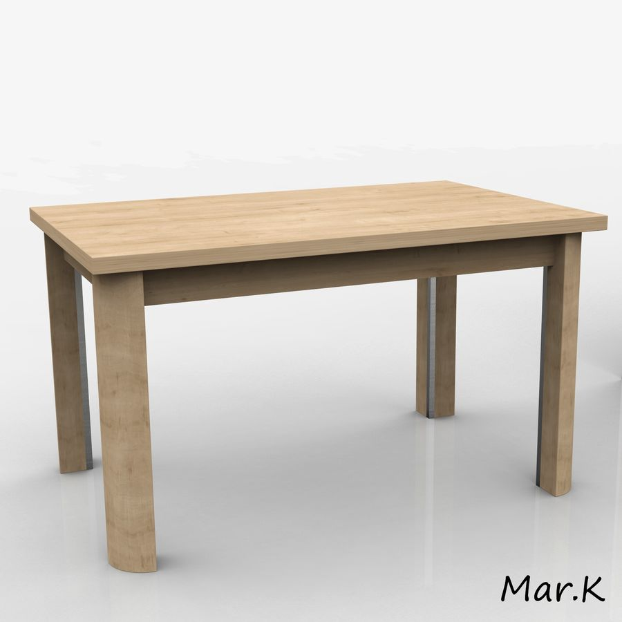 dining room furniture royalty-free 3d model - Preview no. 2
