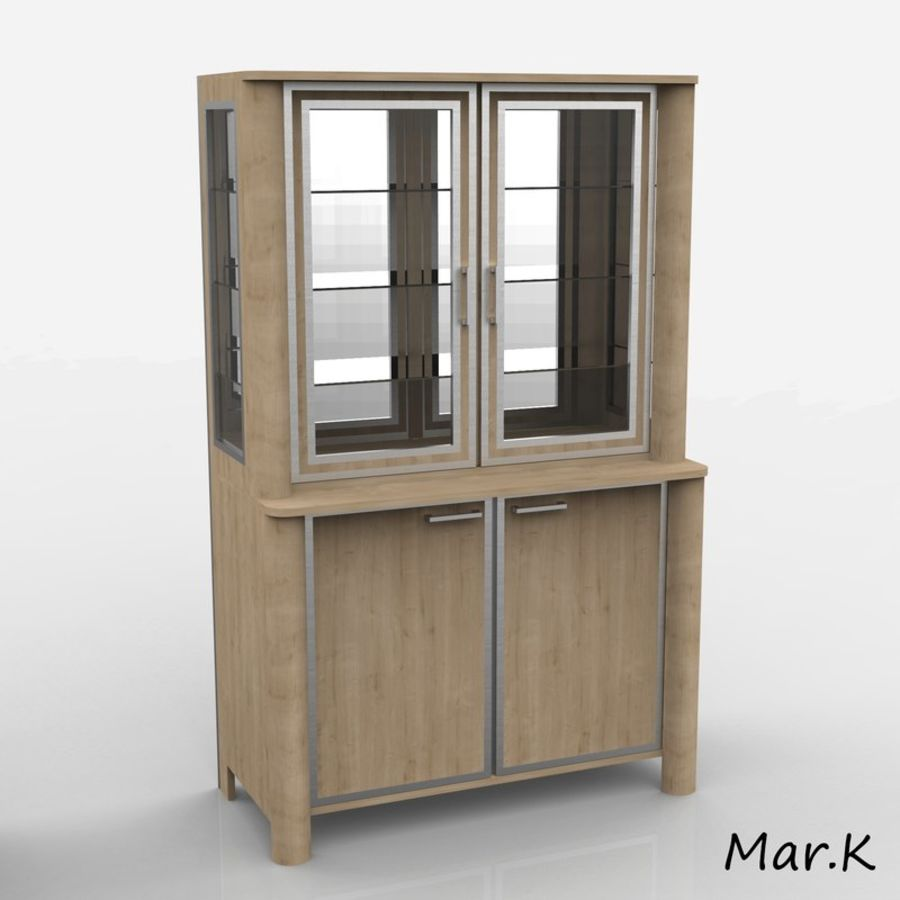 dining room furniture royalty-free 3d model - Preview no. 4