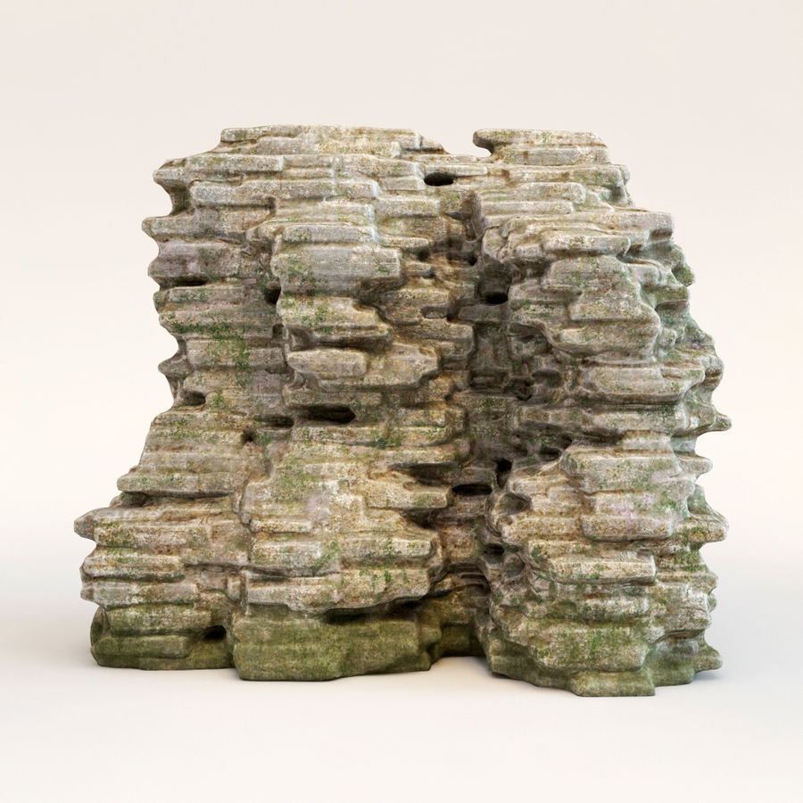 Rots klif royalty-free 3d model - Preview no. 1
