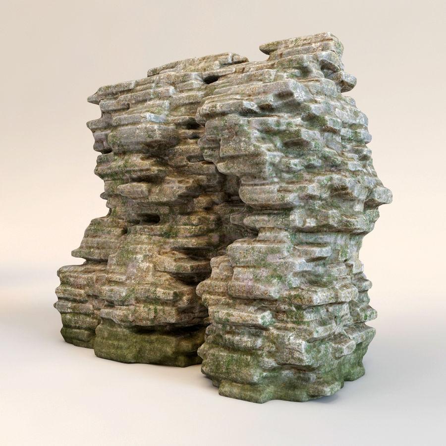 Rots klif royalty-free 3d model - Preview no. 3