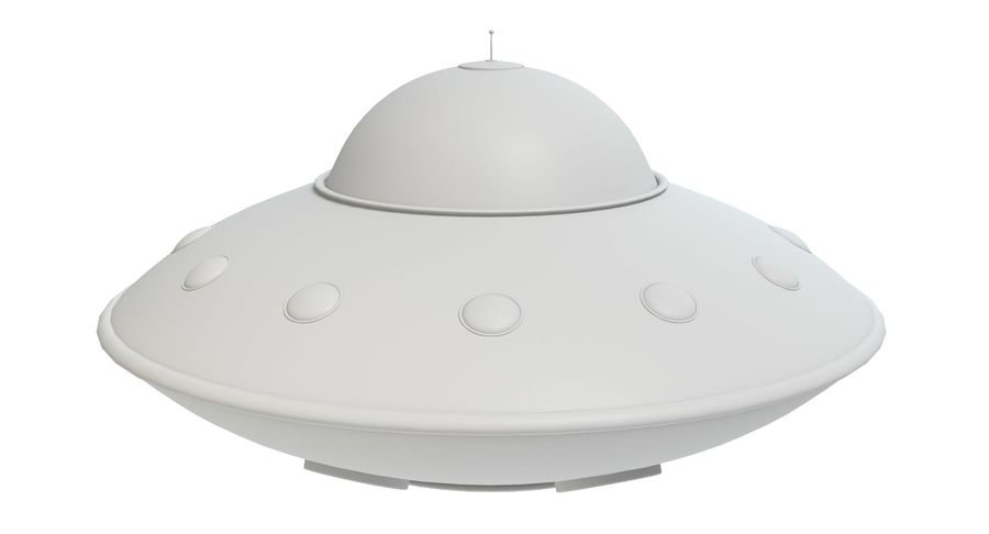 Cartoon Flying Saucer 2 royalty-free 3d model - Preview no. 6