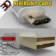 CABLE USB - MICRO REVERSIBLE 3d model