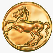 Coin with horse 3d model