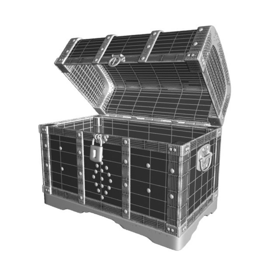Crate Chest royalty-free 3d model - Preview no. 9