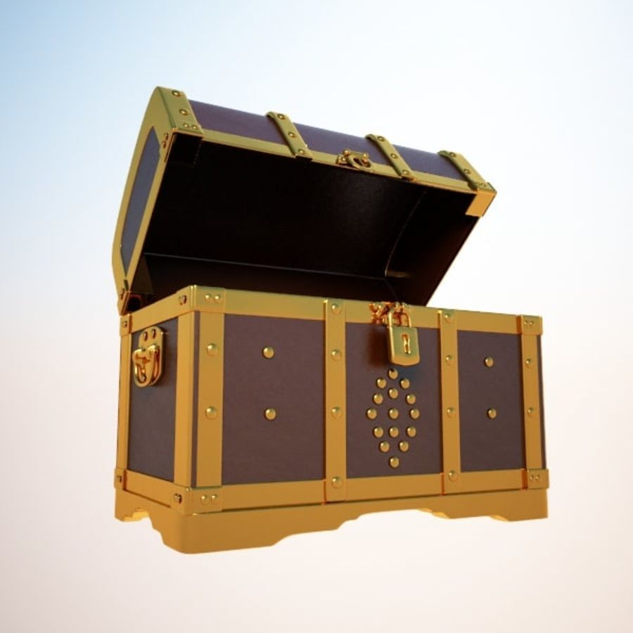 Crate Chest royalty-free 3d model - Preview no. 6