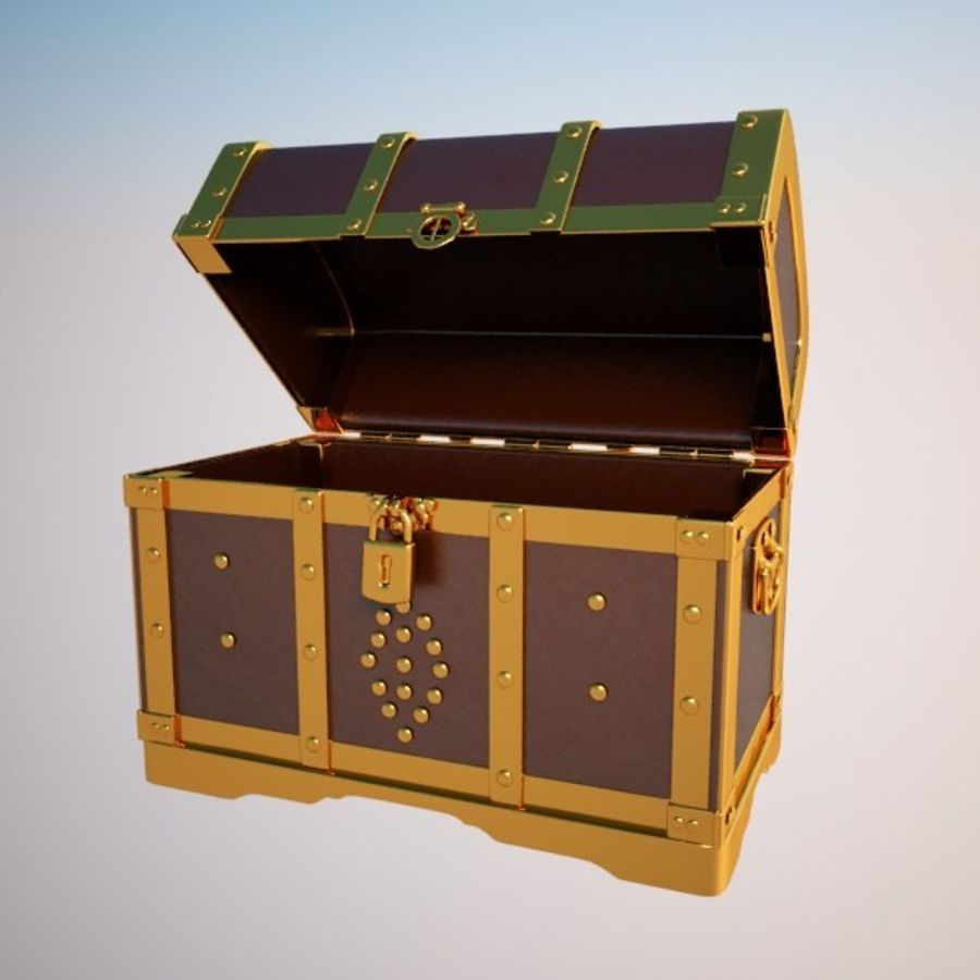 Crate Chest royalty-free 3d model - Preview no. 3