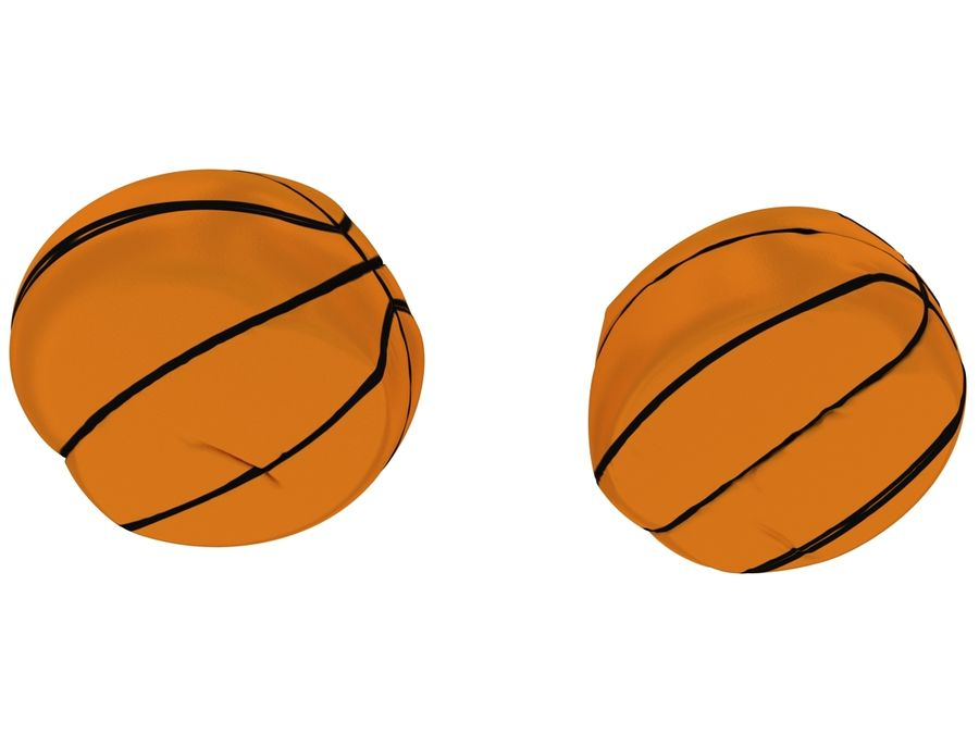 Basketball chair bag royalty-free 3d model - Preview no. 9