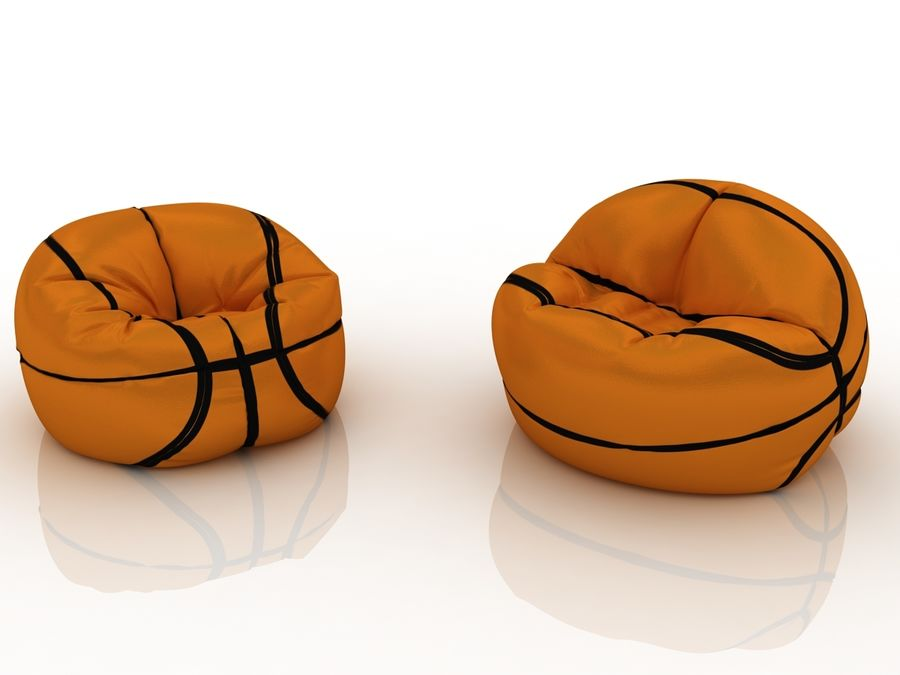 Basketball chair bag royalty-free 3d model - Preview no. 3