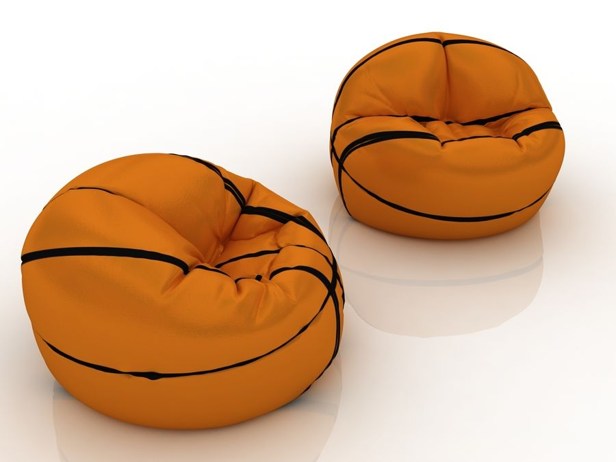 Basketball chair bag royalty-free 3d model - Preview no. 5