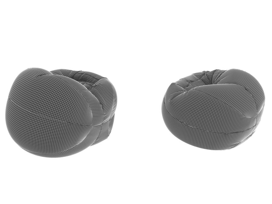 Basketball chair bag royalty-free 3d model - Preview no. 8