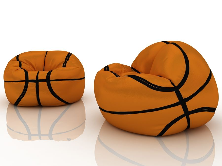 Basketball chair bag royalty-free 3d model - Preview no. 1